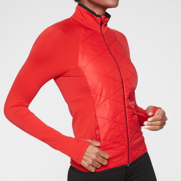 Athleta Jackets & Blazers - NWT Athleta Insulted Flurry Jacket in Red